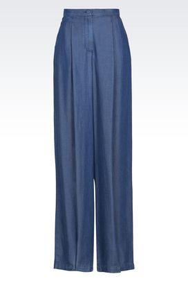 Armani Pantaloni Donna pantaloni in denim a vita alta