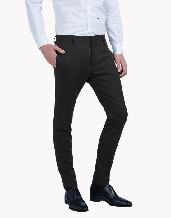 slim-fit wool pants pantalones Hombre Dsquared2