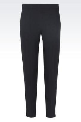 Armani Pantaloni Donna pantaloni in tessuto stretch con spacchetti
