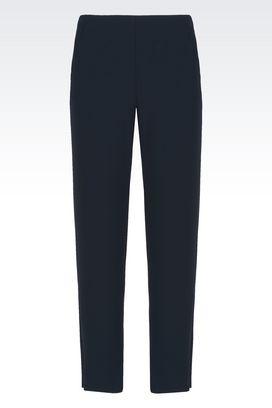 Armani Trousers Women tropical wool straight leg trousers