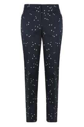 Armani Pantaloni stampati Donna pantaloni in cotone stretch logo all over