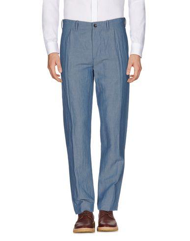 INCOTEX メンズ パンツ ブルー 33 麻 52% / コットン 48%