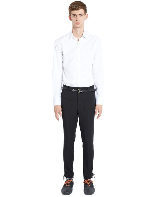 lanvin slim-fit trousers with side laces men