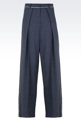 Armani Pantaloni Donna pantaloni palazzo in lana e seta stretch