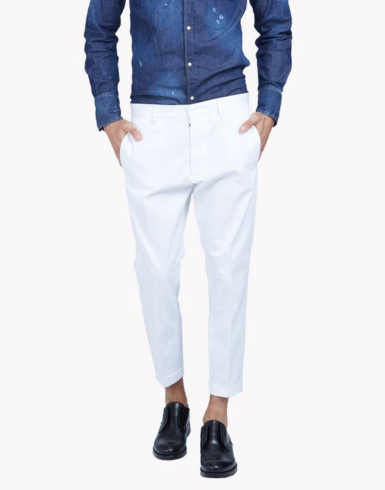 cropped cotton pants pantalones Hombre Dsquared2