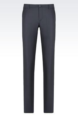 Armani Pantaloni Uomo pantaloni classici in lana e cachemire