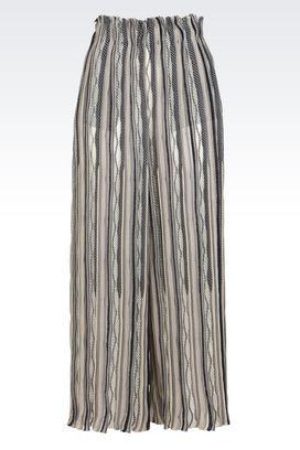 Armani Trousers Women silk and cashmere palazzo pants