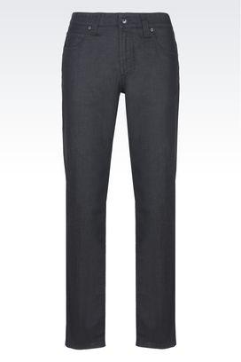 Armani Pantaloni 5 tasche Uomo jeans regular fit in cotone stretch