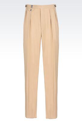 Armani Pantaloni Uomo pantaloni casual in cupro