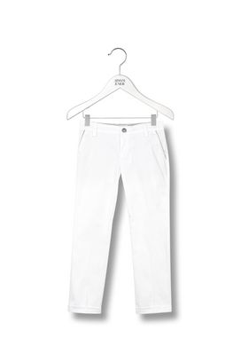 Armani Pants Men stretch cotton chino trousers with turn-ups