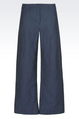 Armani Pantaloni classici Donna pantaloni in misto lino dalla linea ampia