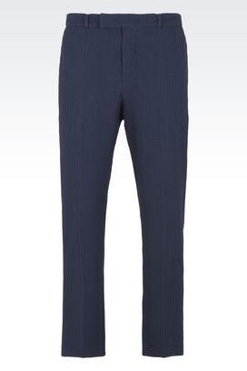 Armani Pants Men mid rise classic cotton stretch pants