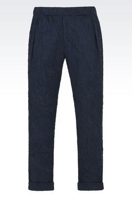 Armani Pantaloni Uomo pantaloni in jersey di cotone con pinces