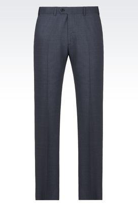 Armani Pantaloni Uomo pantaloni classici in lana