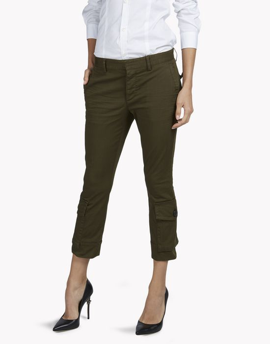 cropped flare pants pants Woman Dsquared2