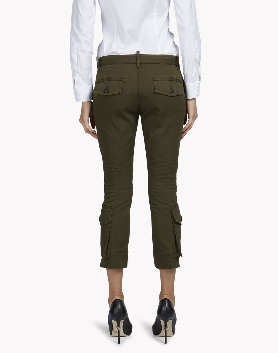 cropped flare pants hosen Damen Dsquared2
