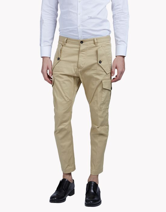 multi-pocket cargo chinos pantaloni Uomo Dsquared2