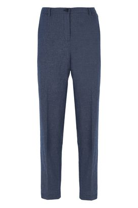 Armani Pantaloni classici Donna pantaloni in cotone e lino jacquard fancy