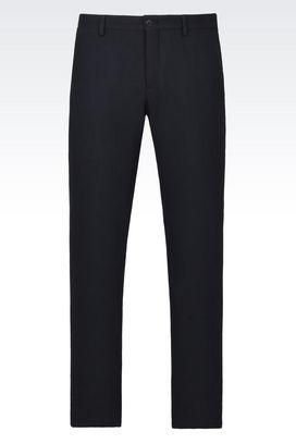 Armani Pantaloni Uomo pantaloni classici in ramiè