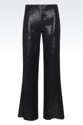 Armani Pantaloni Donna pantaloni palazzo con paillettes