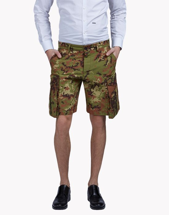 camouflage cargo shorts trousers Man Dsquared2