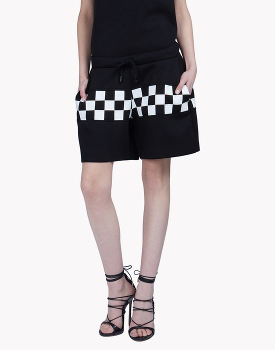 checkerboard shorts trousers Woman Dsquared2