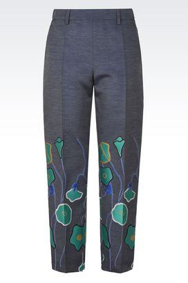 Armani Pantaloni Donna pantaloni in jacquard dalla linea stretta