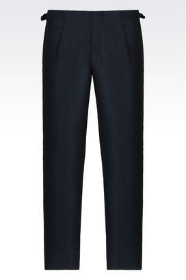 Armani Pantaloni Uomo pantaloni classici in matelassé geometrico