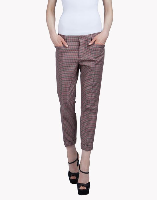 check pants trousers Woman Dsquared2