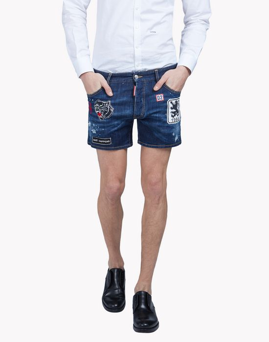 patch denim shorts pants Man Dsquared2