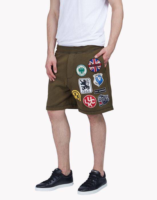 patch sweatshorts pantaloni Uomo Dsquared2