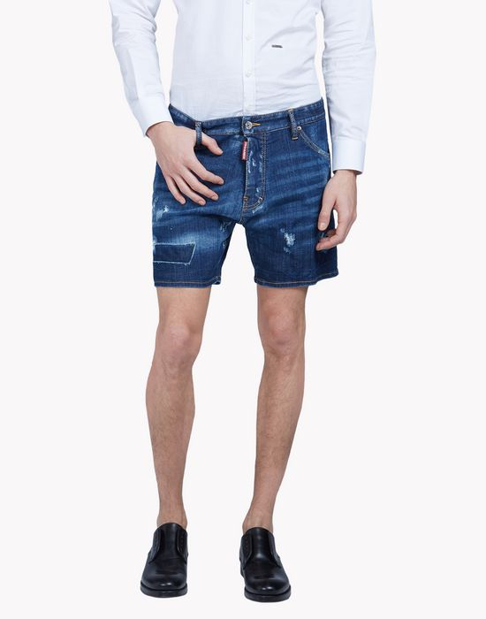 distressed denim shorts pantaloni Uomo Dsquared2