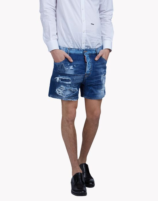 distressed denim shorts pants Man Dsquared2