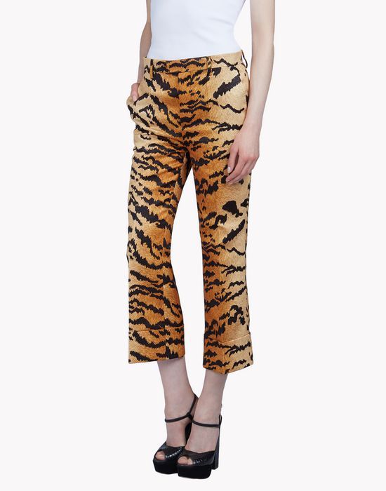 satin tiger pants trousers Woman Dsquared2