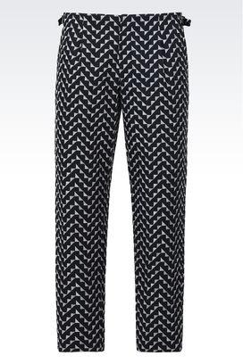 Armani Pantaloni Uomo pantaloni classici in cotone jacquard