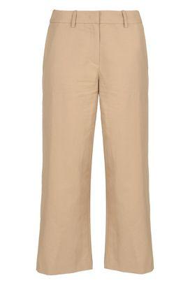 Armani Pantaloni vita alta Donna pantaloni in cotone e lino