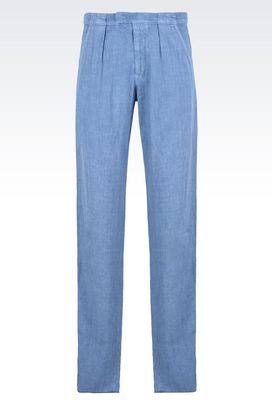 Armani Pantaloni Uomo pantaloni casual in lino