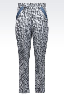 Armani Pantaloni Donna pantaloni in misto lino e seta