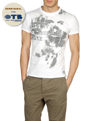 DIESEL Short sleeves - T-OTB-1 00DKY - Item 37365160
