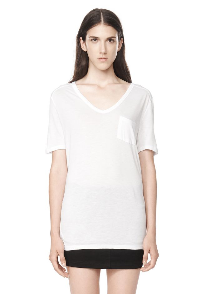 T by ALEXANDER WANG t-by-alexander-wang-classics CLASSIC TEE WITH POCKET