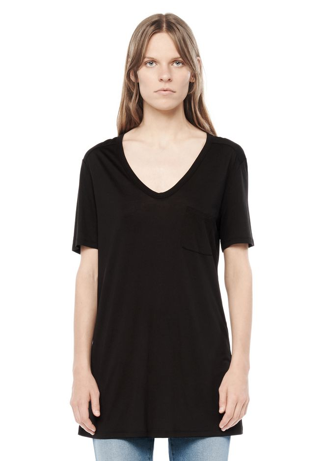 T by ALEXANDER WANG CLASSIC TEE WITH POCKET Short sleeve t-shirt Adult 12_n_e