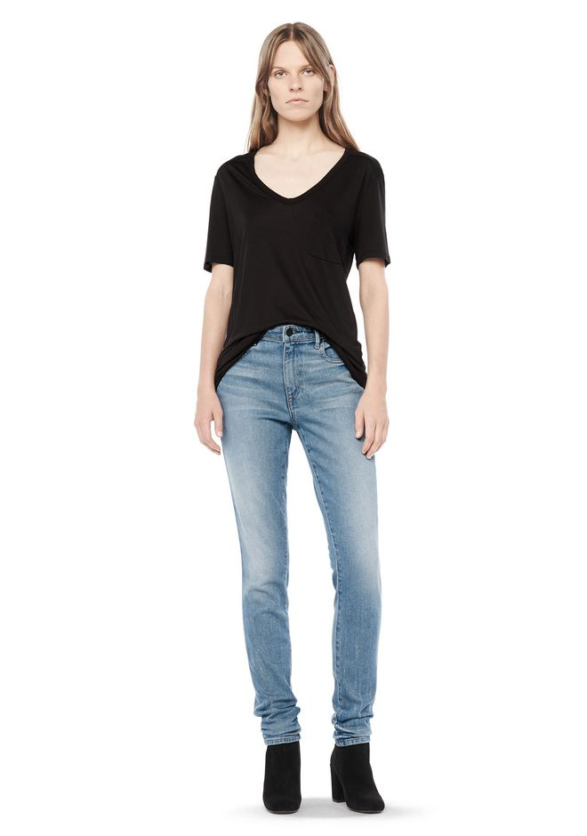 T by ALEXANDER WANG CLASSIC TEE WITH POCKET Short sleeve t-shirt Adult 12_n_f