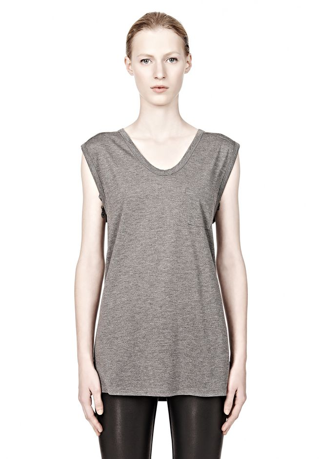 T by ALEXANDER WANG CLASSIC MUSCLE TEE WITH POCKET T-Shirt Adult 12_n_e
