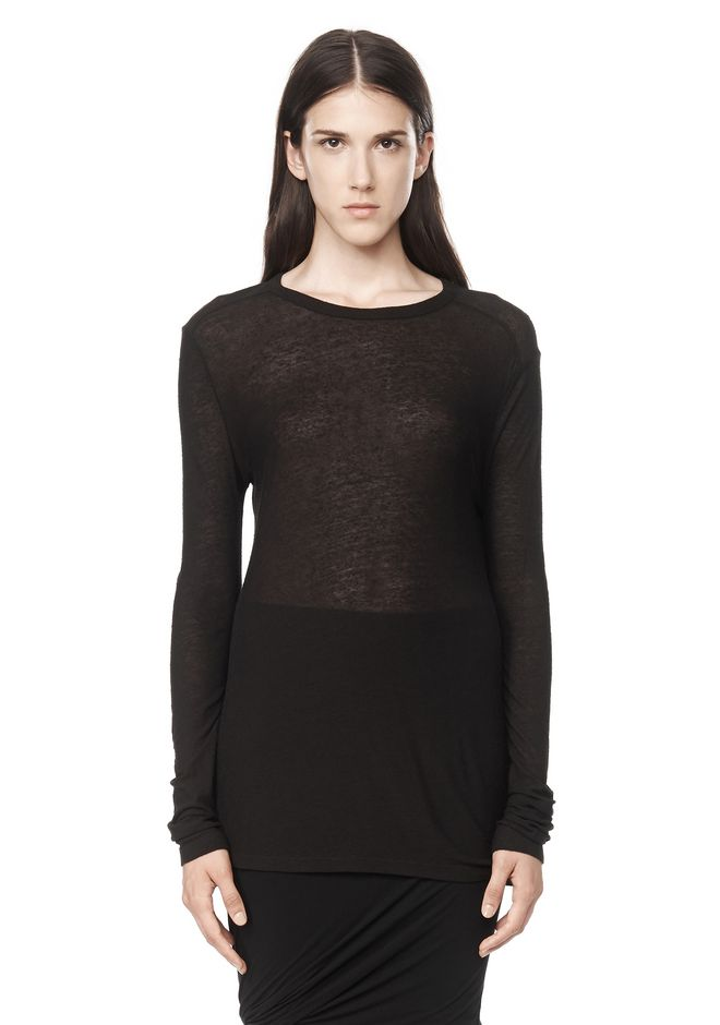 T by ALEXANDER WANG SLUB CLASSIC LONG SLEEVETEE  TEE Adult 12_n_e