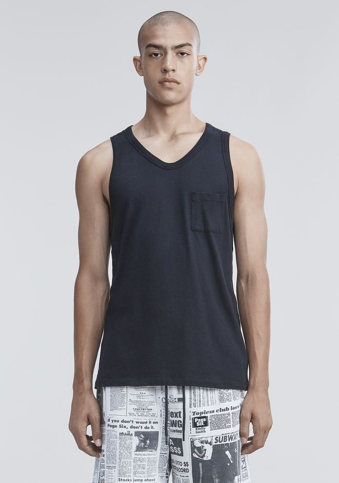 T by ALEXANDER WANG TANKS Men CLASSIC TANK WITH POCKET