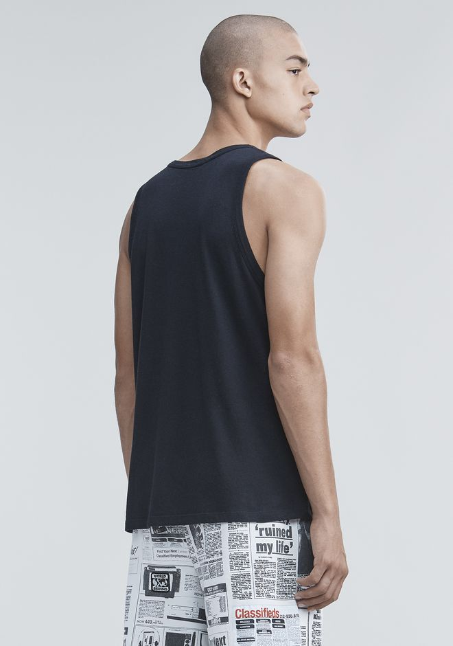 T by ALEXANDER WANG CLASSIC TANK WITH POCKET TANK Adult 12_n_d