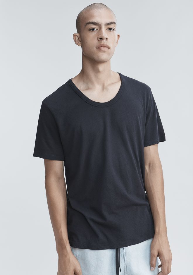 T by ALEXANDER WANG CLASSIC LOW NECK TEE TEE Adult 12_n_r