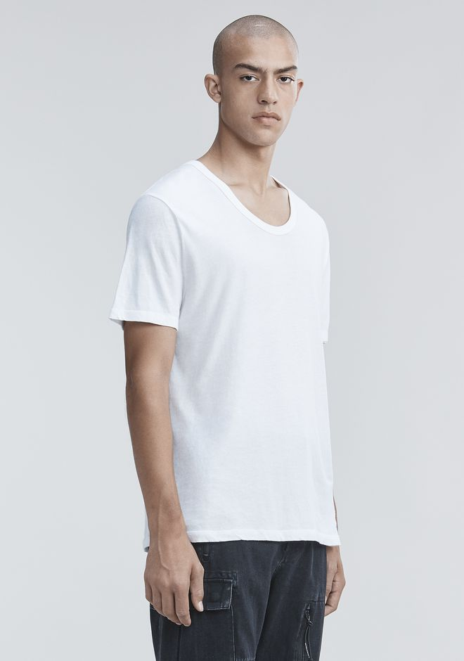 T by ALEXANDER WANG CLASSIC LOW NECK TEE TEE Adult 12_n_a