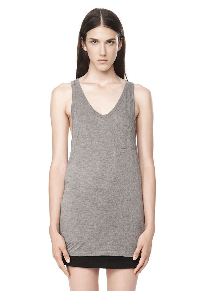 T by ALEXANDER WANG t-by-alexander-wang-classics CLASSIC TANK WITH POCKET