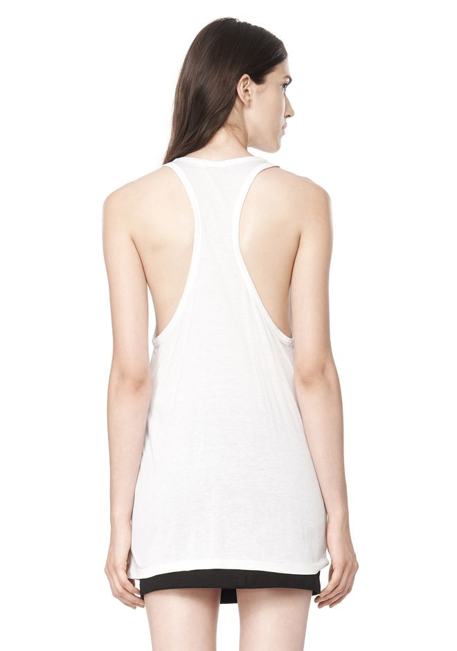 T by ALEXANDER WANG CLASSIC TANK WITH POCKET TOP Adult 12_n_d